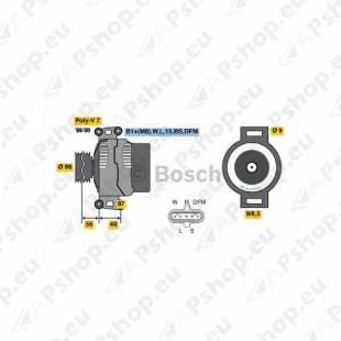 GENERAATOR DAF XF105 BOSCH