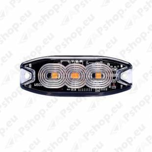 STROBO VILKUR KOLLANE 3- LED 12/24V. MADAL 82X30X9
