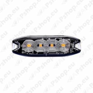 STROBO VILKUR KOLLANE 4- LED 12/24V. MADAL 98X30X8MM