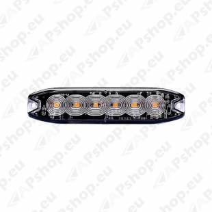 STROBO VILKUR KOLLANE 6-LED 12/24V. MADAL 130X30X7MM