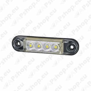 LD2327 KÜLJETULI LED VALGE 78X19X11MM 12/24V IP68