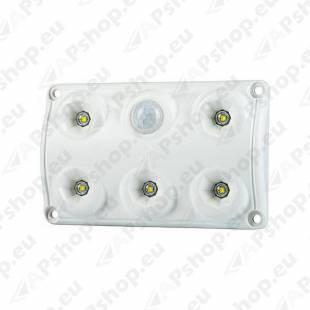 LWD2156 SALONGI SISEVALGUSTI 5-LED LIIKUMISANDURIGA 75X120X16 12/24V IP65