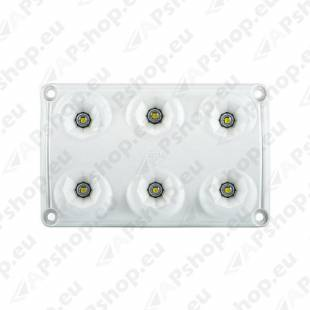 LWD2154 SALONGI SISEVALGUSTI 6-LED 75X120X16 12/24V IP65
