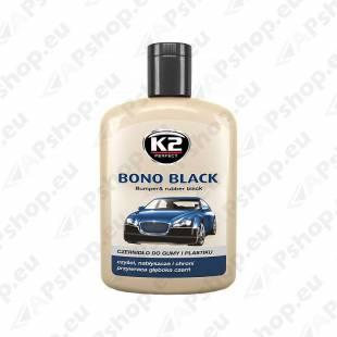 K2 BONO BLACK PLASTI- JA KUMMIHOOLDUS 200ML