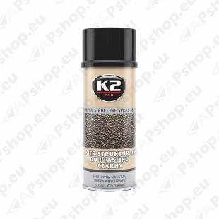 K2 BLACK BUMPER STRUCTURE SPRAY BLACK 400ML/AE