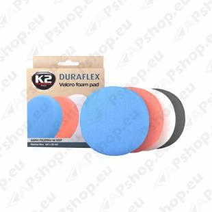 K2 DURAFLEX BLUE HARD ABRASIVE TAKJAKINNITUSEGA POLEERIMISPADI 150X25MM