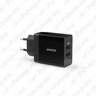 ANKER 24W 2X2.4A USB LAADIJA MUST 100-240V