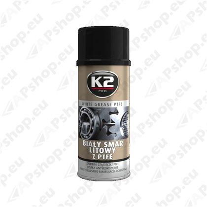 K2 WHITE GREASE PTFE VALGE MÄÄRE 400ML/AE