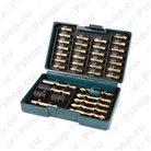 Drill bit sets with 1/4\ hex shank
