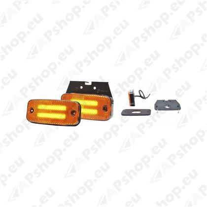 KÜLJETULI 2 RIBA-LED.12/24V. 110X52MM KOLLANE JALAGA