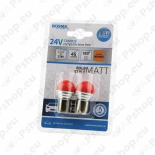 PIRN LED CANBUS 4.5W PY21W 24V BAU15S BLISTER-2TK BOSMA