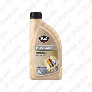 K2 TEXAR 15W40 MINERAL 1L (MINERAAL)