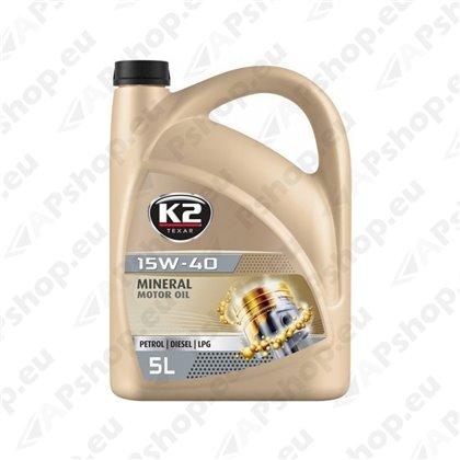 K2 TEXAR 15W40 MINERAL 5L (MINERAAL)