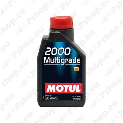 MOTUL 2000 MULTIGRADE 20W50 1L