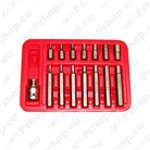 Hex bit sets with 10 mm and 5/16\ hex shank
