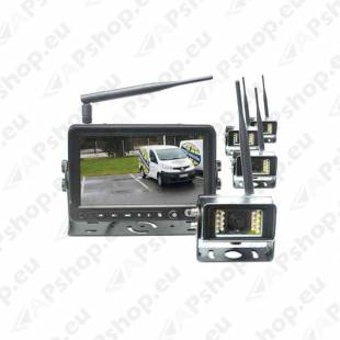 "VEISE Wireless Camera System 7"", 4 Cameras RV-7760-4"