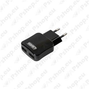 Duubel USB laadija 230V võrgust 2100Ma S103-3894.9