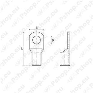 Juhtmeots 16mm-ava Ø 6,4 S170-TD166