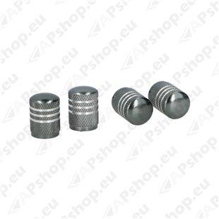 Ventiiliotsikud alumiinium 4tk, hall S131-053028