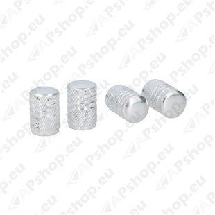 Ventiiliotsikud alumiinium 4tk, hõbe, sisemus plastik S131-058221