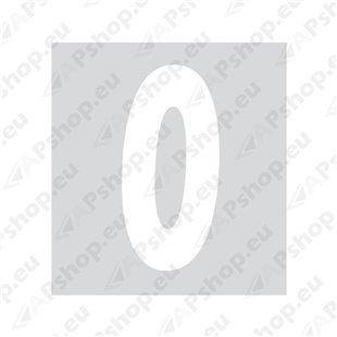 Kleebitav number 0, valge S103-9038.0