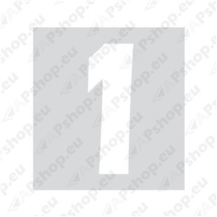 Kleebitav number 1, valge S103-9037.1