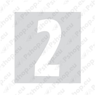 Kleebitav number 2, valge S103-9037.2