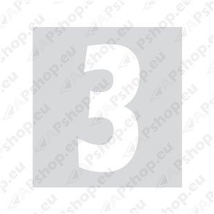 Kleebitav number 3, valge S103-9037.3