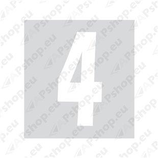 Kleebitav number 4, valge S103-9037.4