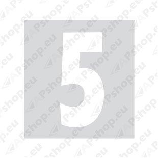 Kleebitav number 5, valge S103-9037.5