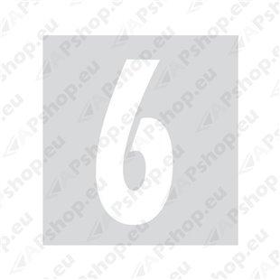 Kleebitav number 6, valge S103-9037.6