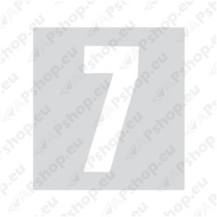 Kleebitav number 7, valge S103-9037.7