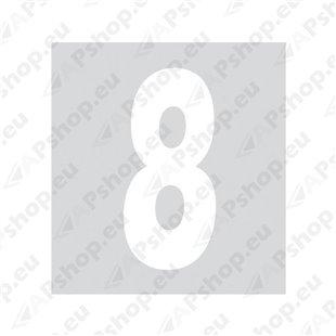 Kleebitav number 8, valge S103-9037.8