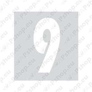 Kleebitav number 9, valge S103-9037.9