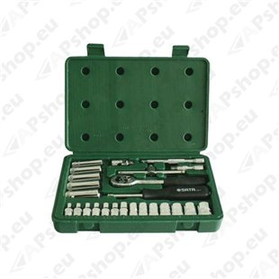 "25-osaline 1/4"" padrunvõtmete komplekt S171-09001"