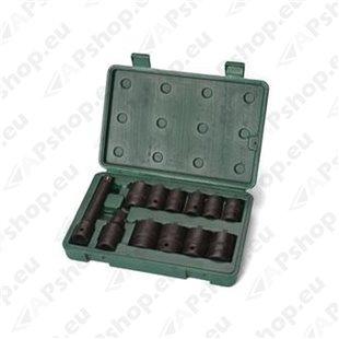 """12-osaline 1/2"""" löökpadrunite komplekt S171-09009"""