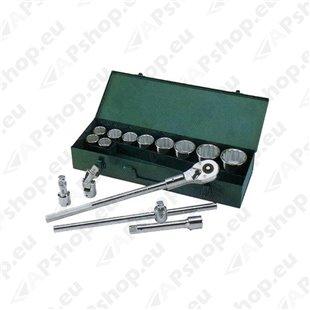 "15-osaline 3/4"" padrunvõtmete komplekt 30-60mm S171-09015"