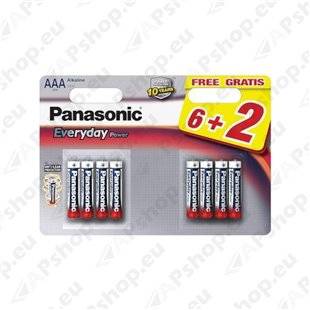 AAA (6+2) Everyday Panasonic patarei S119-30554