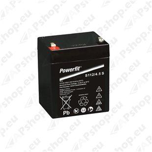 Powerfit 12V 4,5Ah AGM 90x70x107mm S106-S112/4,5S