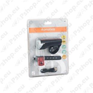 Tulede komplekt LED 15/25/50 LUX USB-pistikust laaditav S123-0669