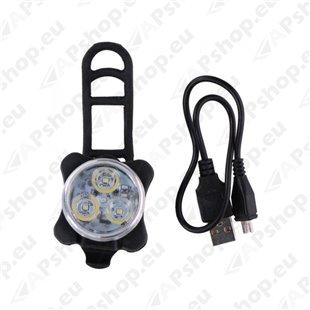 Laetav jalgratta LED esituli, 3W, 3,7V, S131-100586
