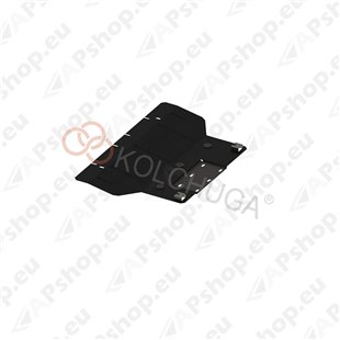 Kolchuga Steel Skid Plate Fiat 500 E 2013- 83 кВт (Engine, Gearbox Protection)