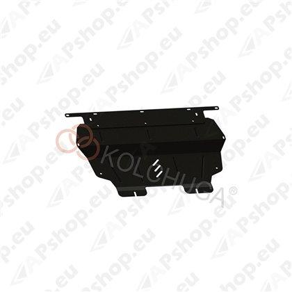Kolchuga Steel Skid Plate Citroen Berlingo III (B9) 2008-2018 (Engine, Gearbox, Radiator Protection)