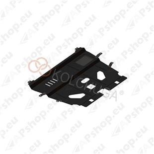 Kolchuga Steel Skid Plate Citroen С4 2010- (Engine, Gearbox, Radiator Protection)