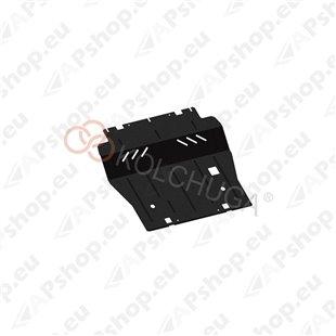 Kolchuga Steel Skid Plate Citroen Grand С4 Picasso 2013- 1,6 HDI (Engine, Gearbox, Radiator Protection)