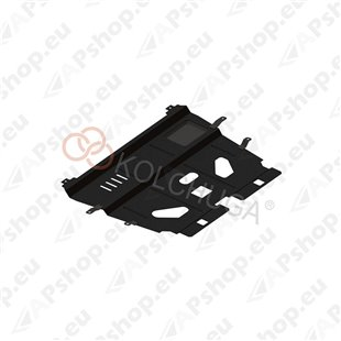 Kolchuga Steel Skid Plate Peugeot 308 2007- (Engine, Gearbox, Radiator Protection)