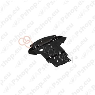 Kolchuga Steel Skid Plate Audi A4 B6 2000-2004 (Engine, Gearbox, Radiator Protection)