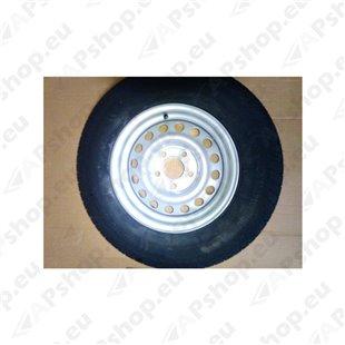 """Complete trailer wheel 155R13C 91N TL M+S 4.50x13 5x112 ET+30 """"E"""""""