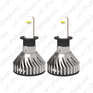 12V/24V H3 LED PIRNIDE KOMPLEKT 36W PK22S 5700K 6000LM 2TK M+