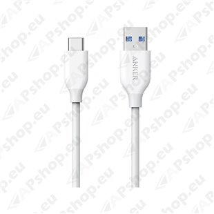 LAADIMISJUHE 0.9M USB-C - USB 3.0 VALGE POWERLINE ANKER
